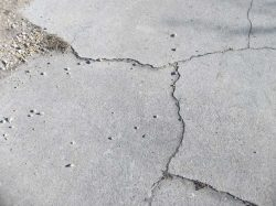 Cracks in driveways