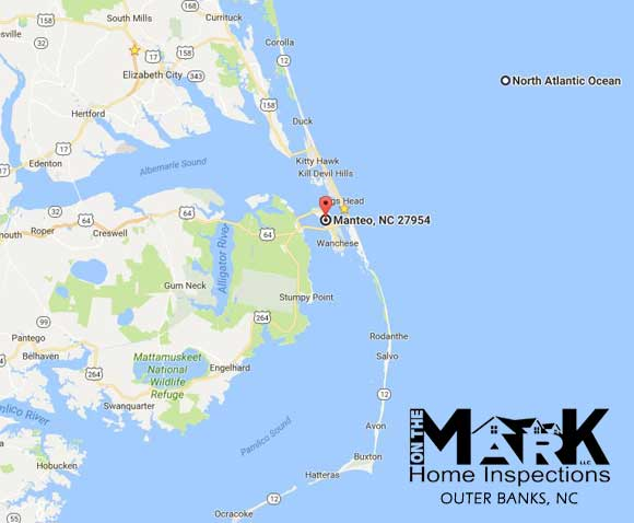 Home Inspections - Outer Banks, NC Map
